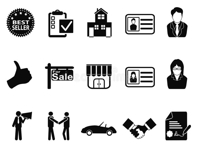 Sales icon set royalty free illustration