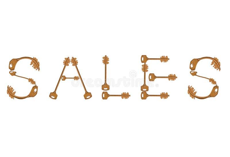 Sales Keys Royalty Free Stock Photo