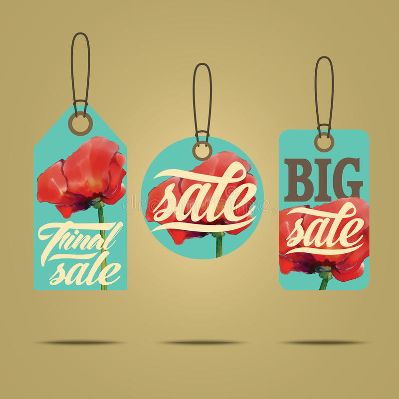 Sales labels. Set of badges for using in different spheres stock illustration