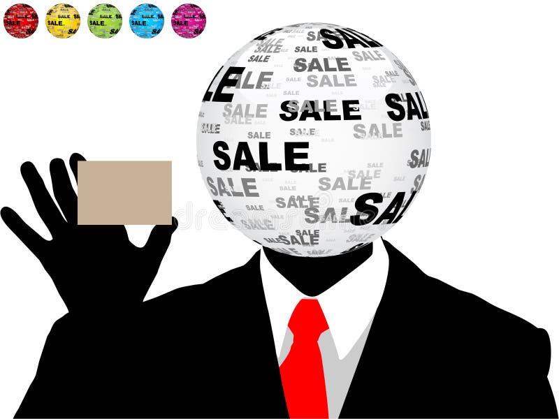 Sales man vector illustration