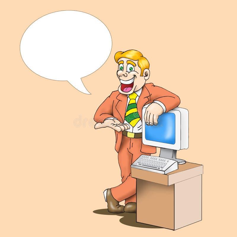 Happy Cartoon Salesman Stock Image