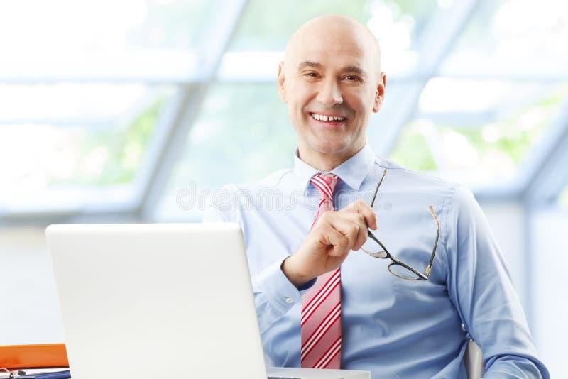 Sales man at work stock photo