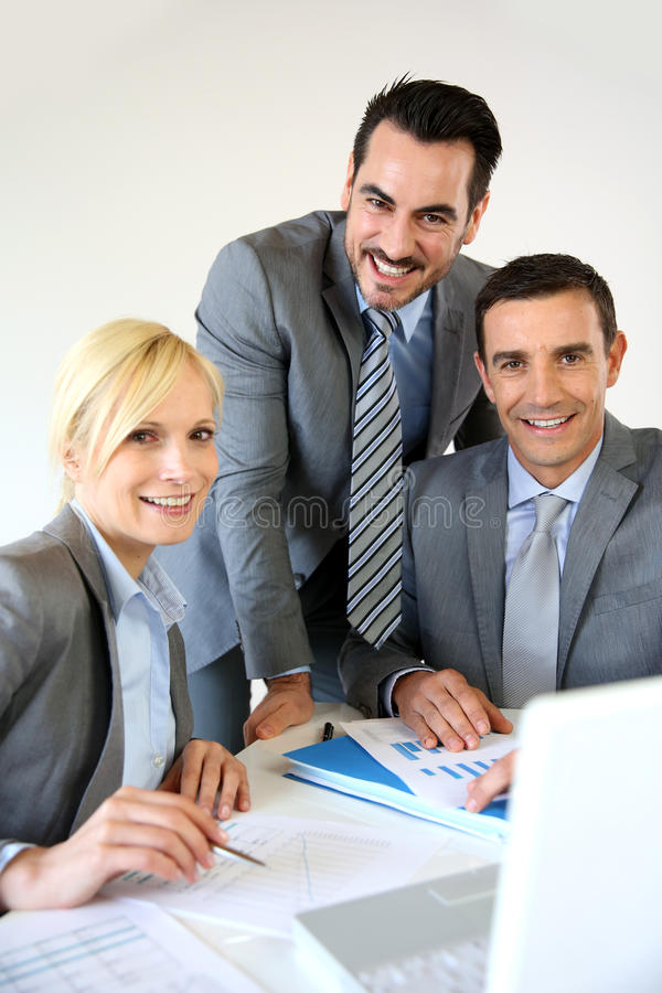 Successful business partners royalty free stock photo