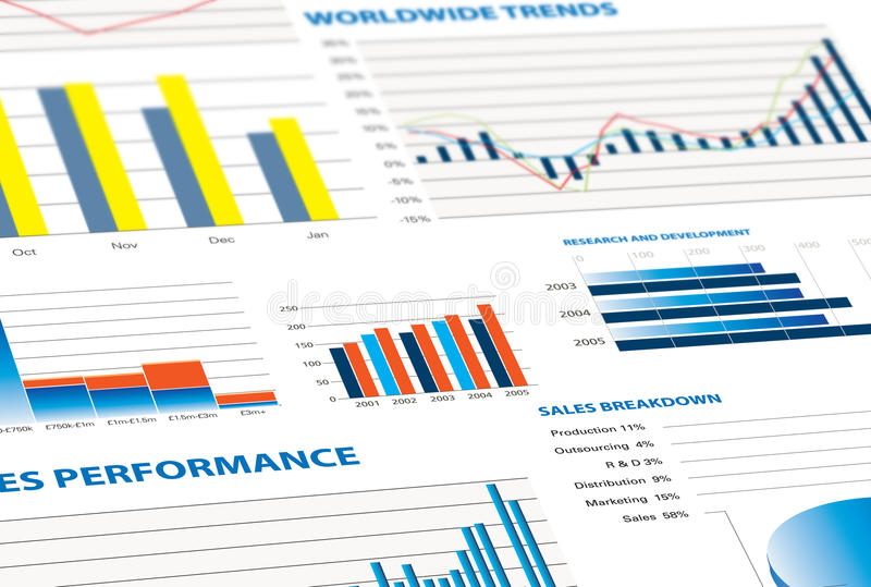 Download Sales Performance And Business Graphs Stock Illustration - Image: 14310943