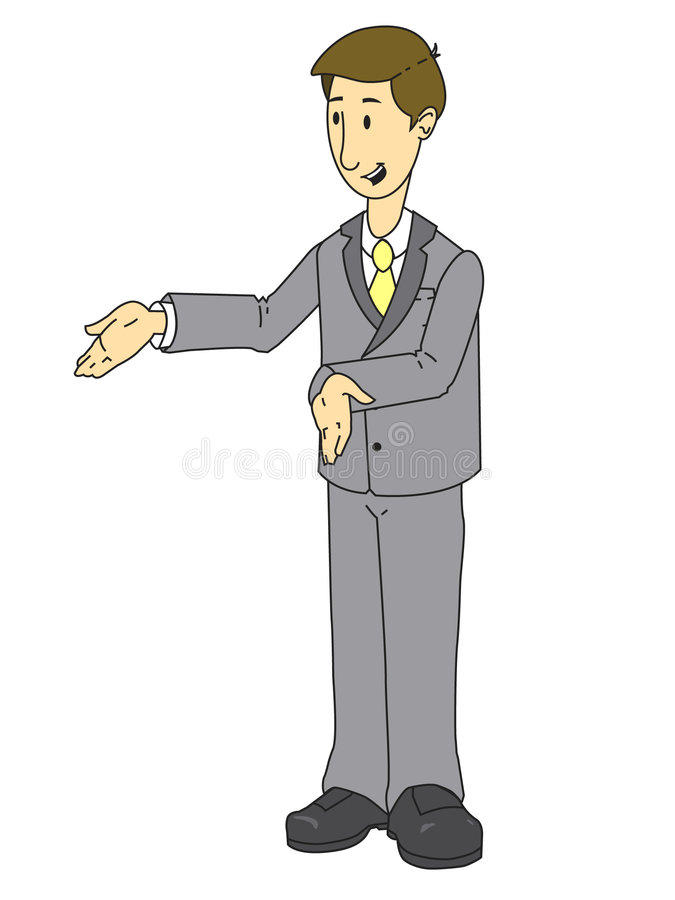Sales person royalty free illustration