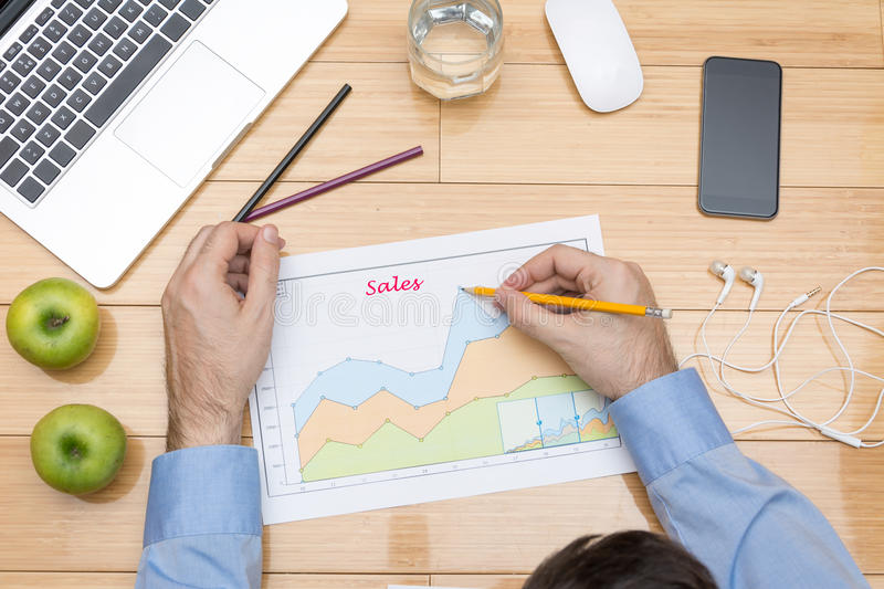 Sales projection stock photos