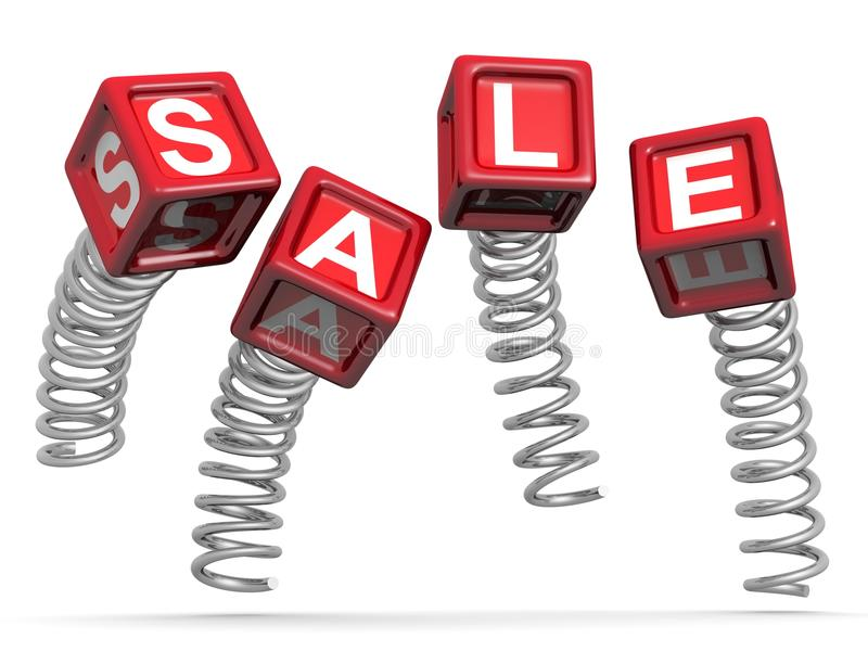 Sales And Promotion Concept Jumping Royalty Free Stock Image