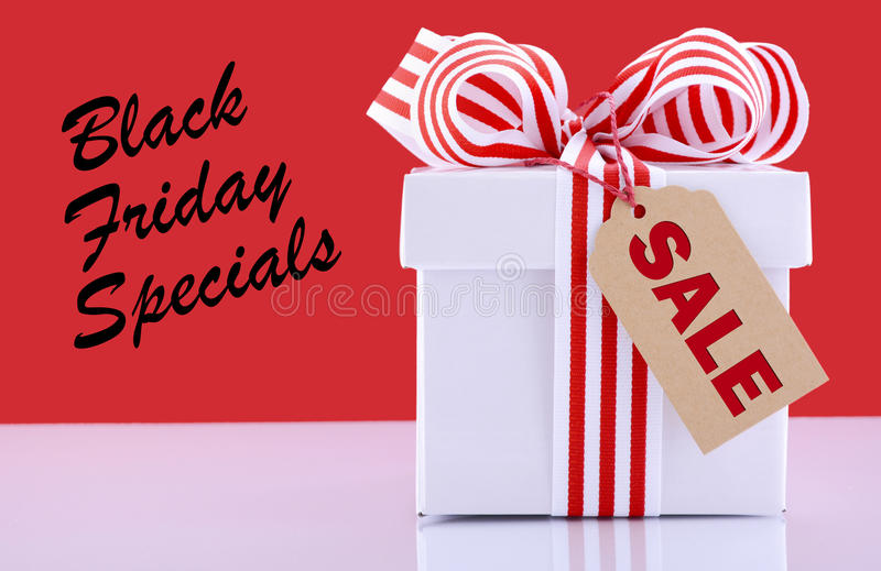 Sales Promotion Gift Box. royalty free stock image
