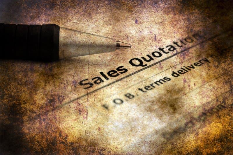 Sales quotation grunge concept stock photo