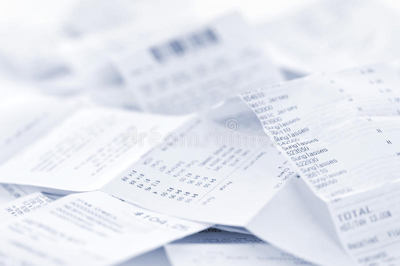 Sales receipts royalty free stock image