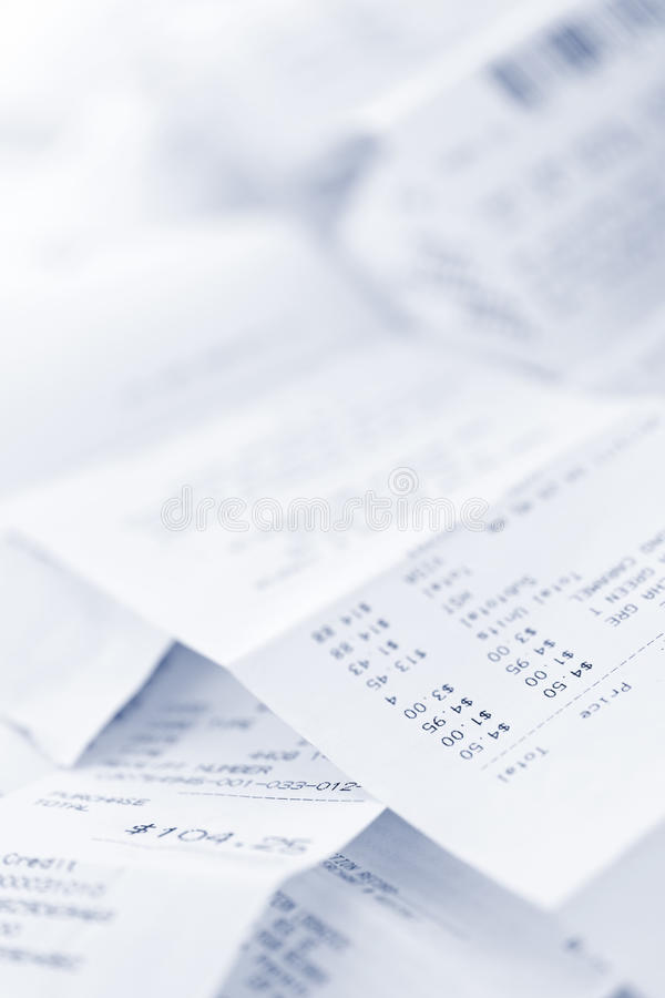 Download Sales receipts stock photo. Image of bill, pile, prices - 21010602