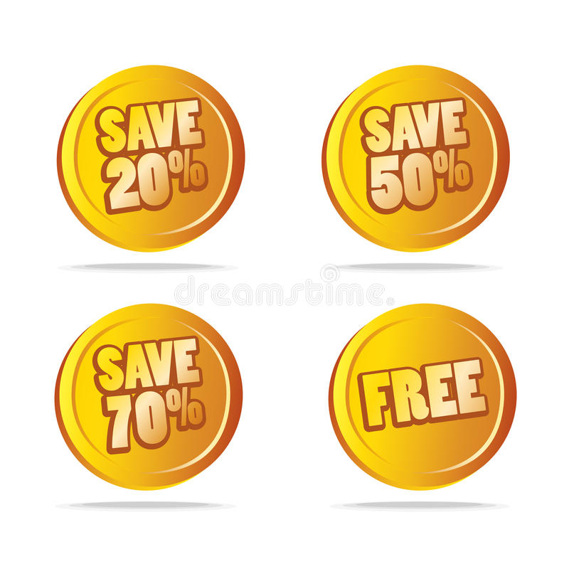 Download Sales save tags as icons stock vector. Illustration of edit - 10598894