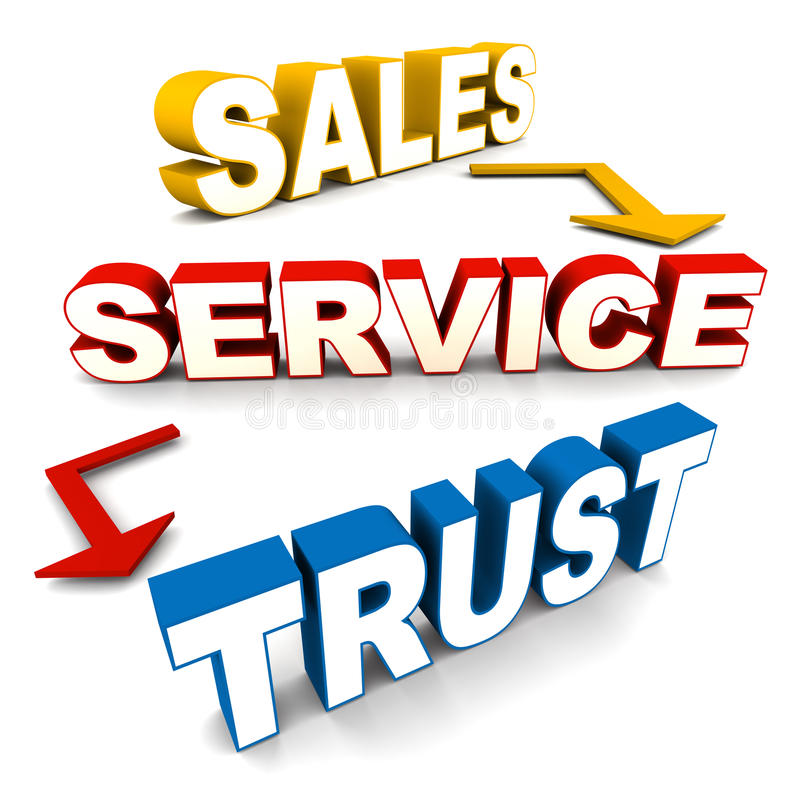 Sales service trust stock illustration