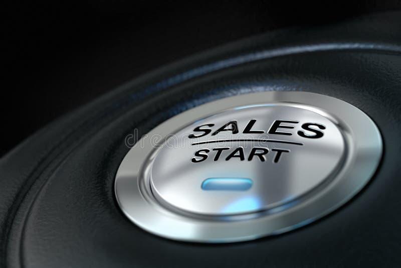 Sales start button vector illustration