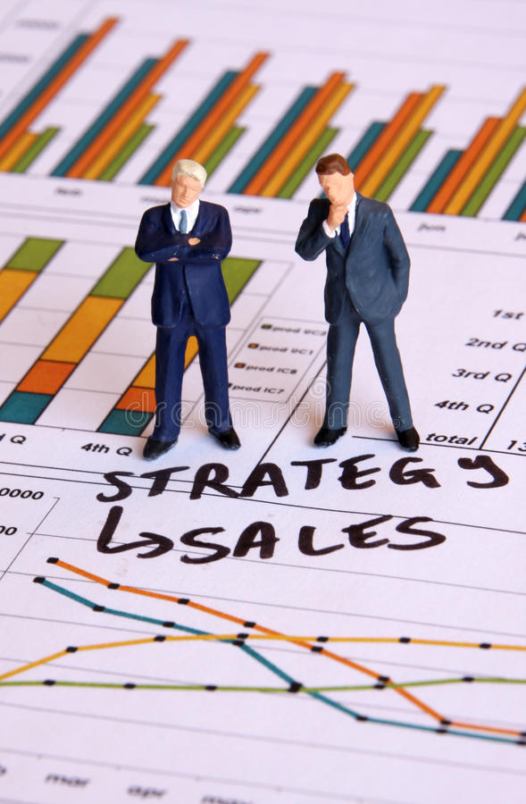 Sales strategy stock photography