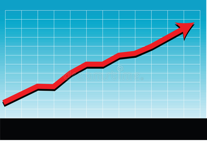 Sales success chart vector stock illustration