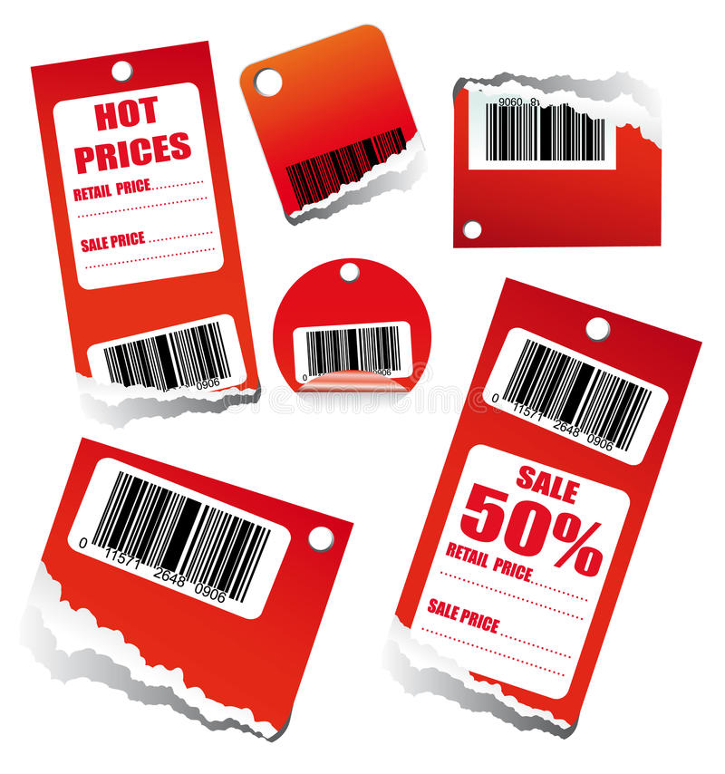 Sales Tag with Barcode royalty free illustration
