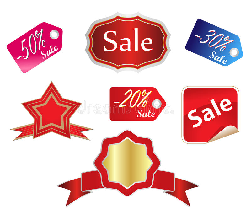 Sales tags royalty free illustration