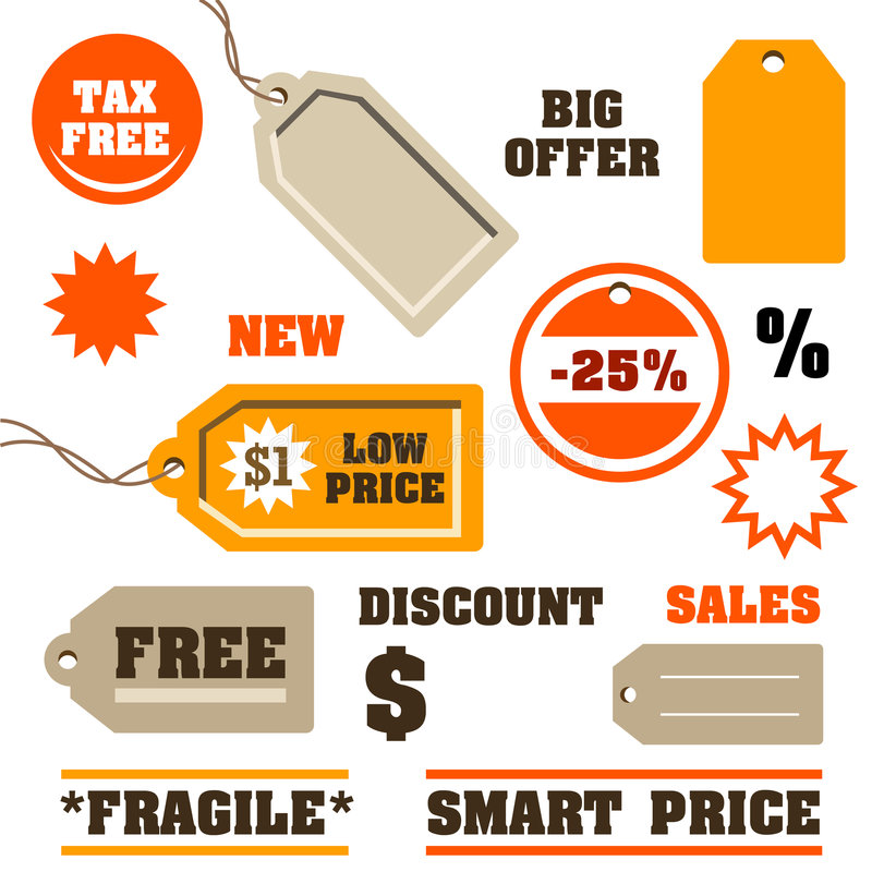 Sales Tags vector illustration