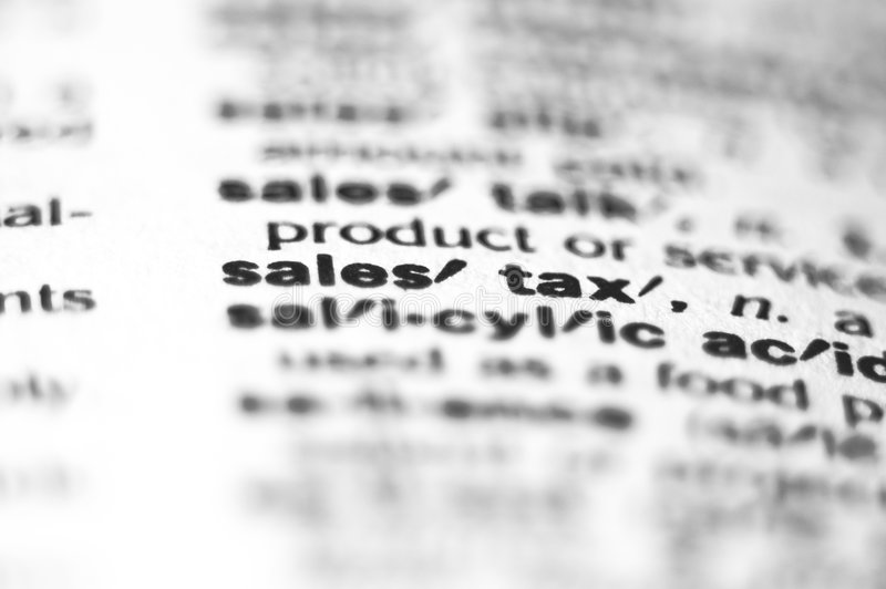 Sales Tax royalty free stock photo