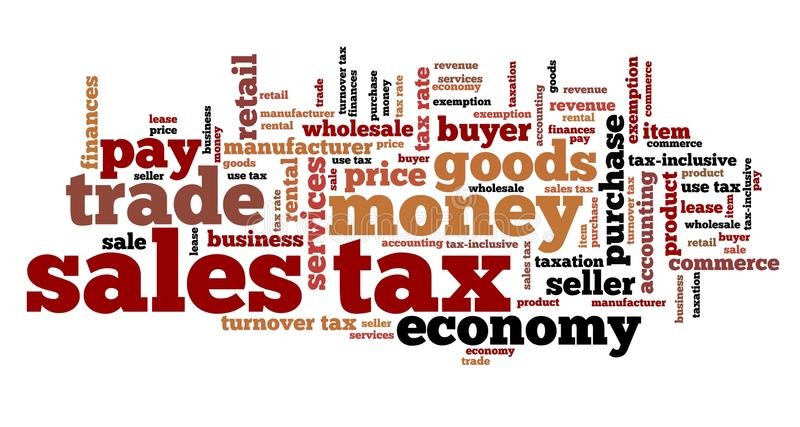 Sales tax vector illustration