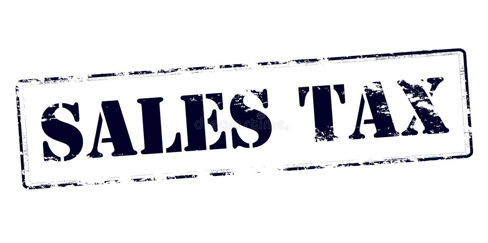Sales tax. Rubber stamp with text sales tax inside, vector illustration royalty free illustration