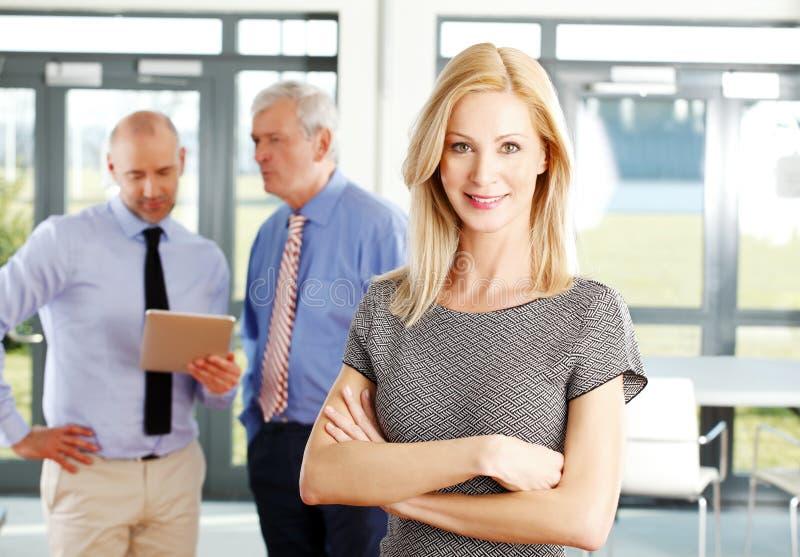 Sales woman portrait stock image
