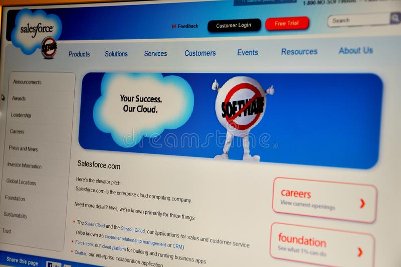 Salesforce lizenzfreie stockbilder