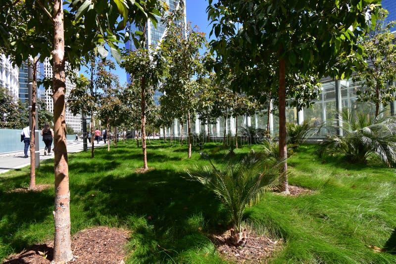 Salesforcepark bovenop het nieuwe Transbay-Doorgangscentrum, 2 stock fotografie