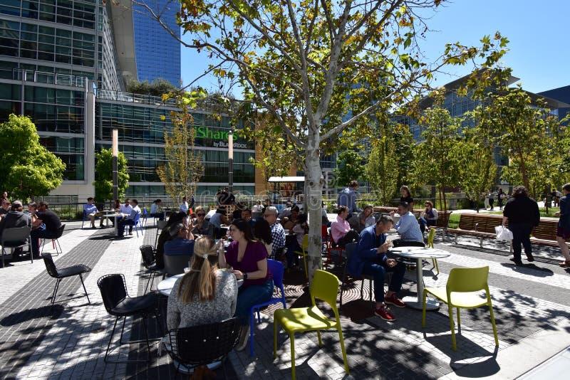 Salesforcepark bovenop het nieuwe Transbay-Doorgangscentrum, 6 stock afbeeldingen