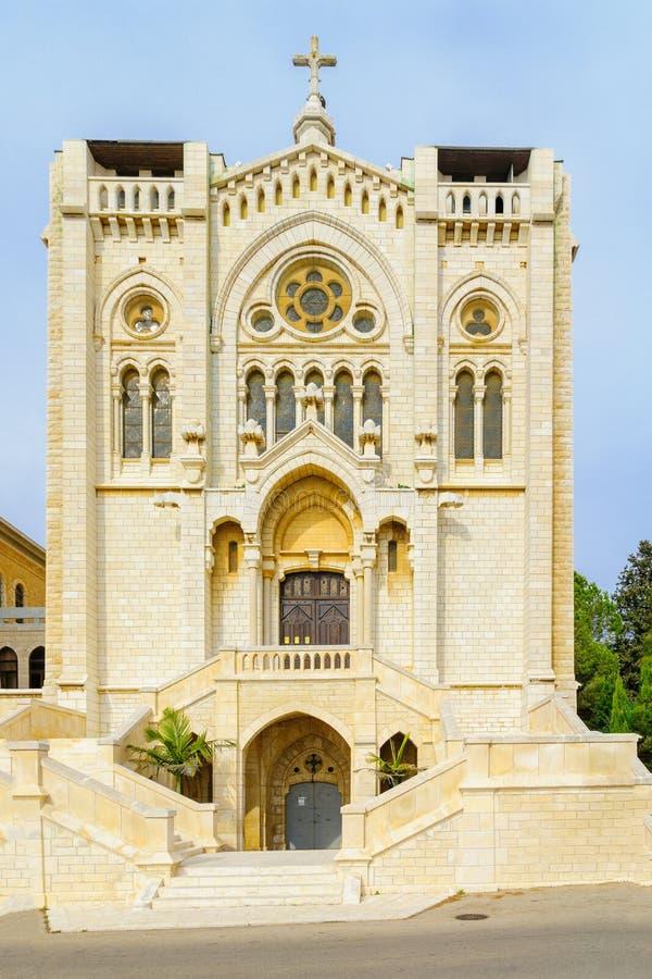 Salesiankerk van Jesus de Adolescent, Nazareth stock afbeelding