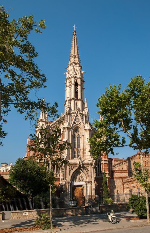 Salesians的教会 巴塞罗那 西班牙 库存照片