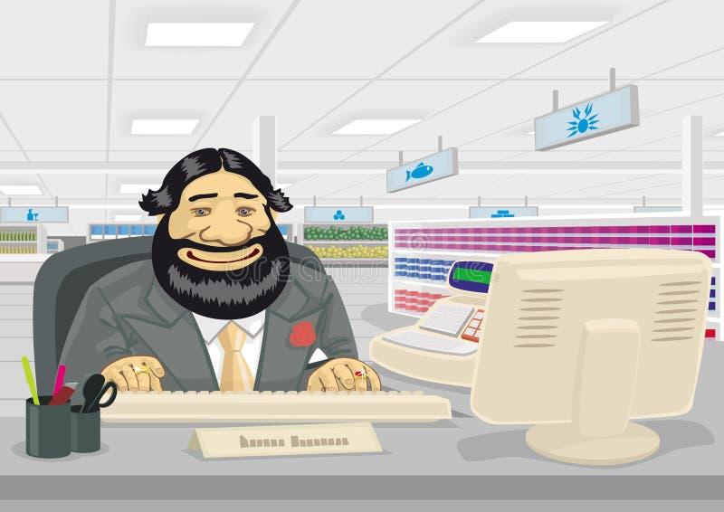 Salesman royalty free illustration