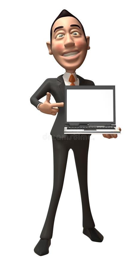 Download Salesman stock illustration. Image of good, eyes, laptop - 5978892