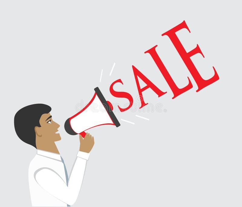 salesman ilustração stock