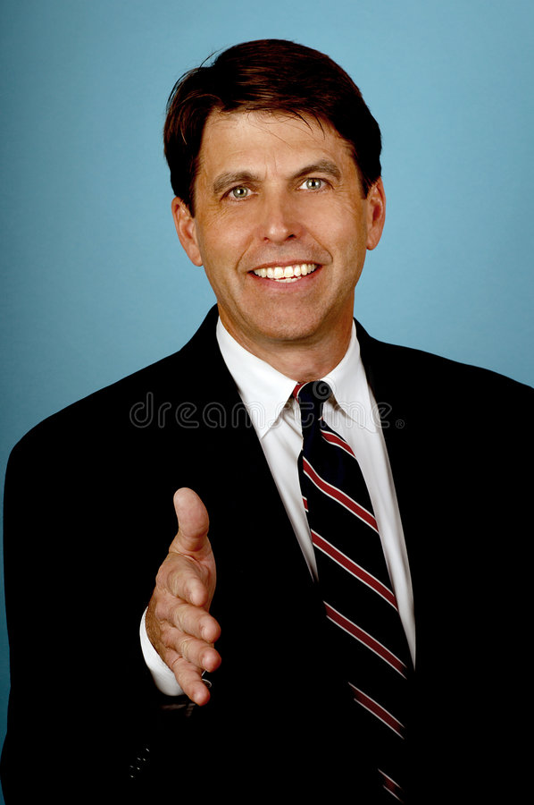 Download Salesman with a big Smile stock image. Image of active - 1689701