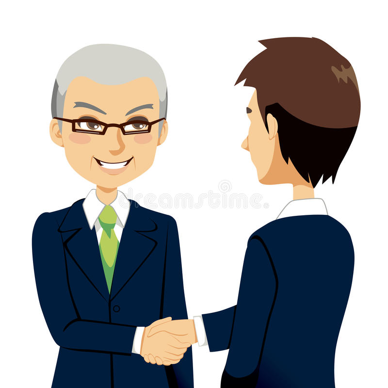 Download Salesman Handshake stock vector. Image of confident, negotiation - 24141883