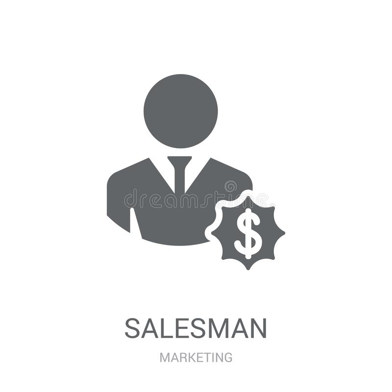 Salesman icon. Trendy Salesman logo concept on white background royalty free illustration
