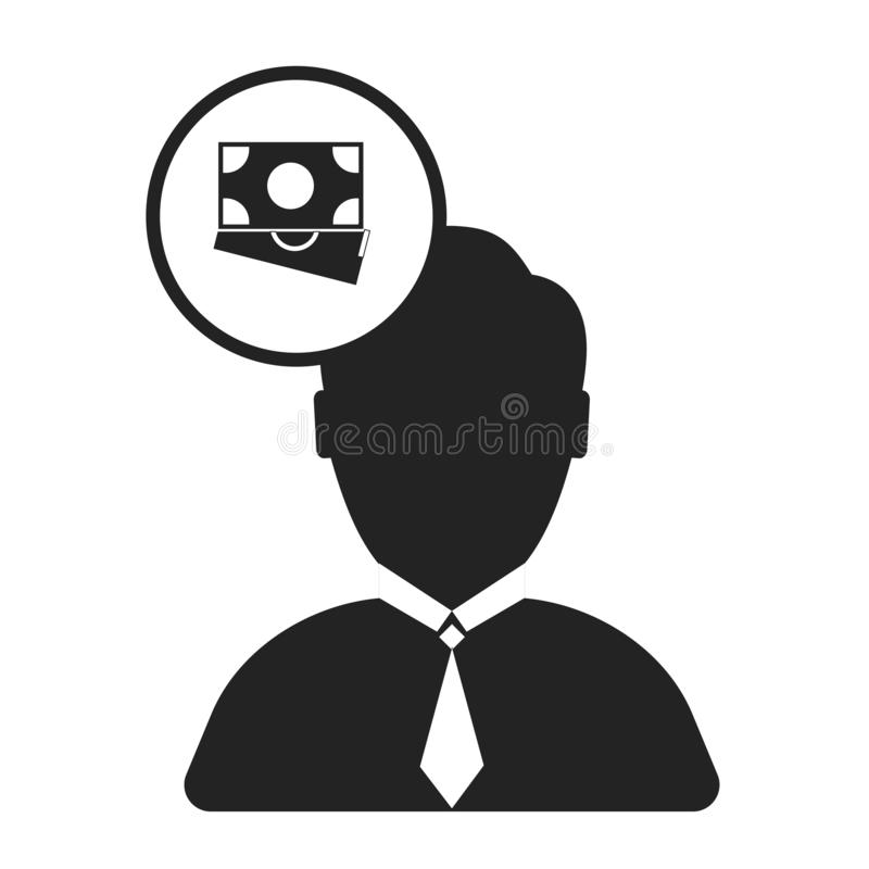 Salesman icon vector sign and symbol isolated on white background, Salesman logo concept vector illustration
