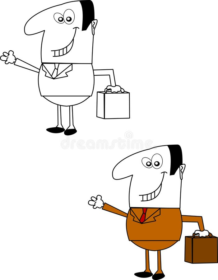Download Salesman Over White Royalty Free Stock Photography - Image: 23065907