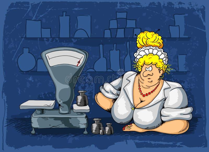 saleswoman иллюстрация штока