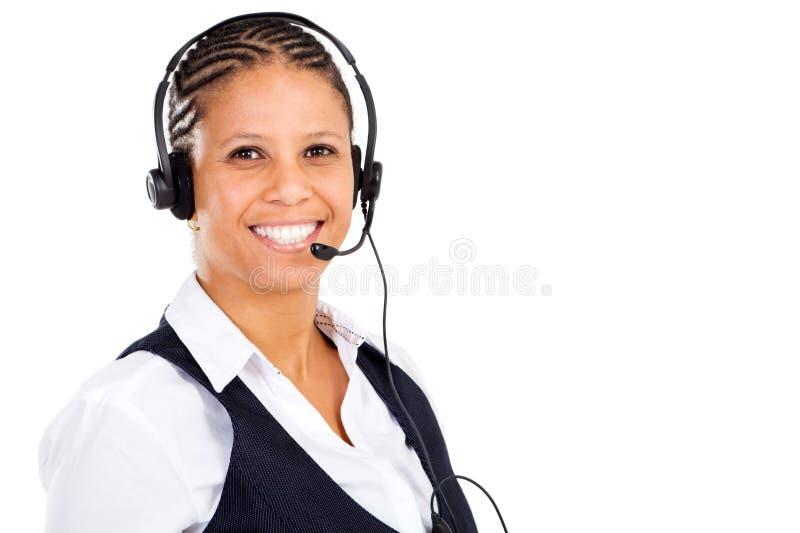 saleswomantelefon royaltyfri fotografi