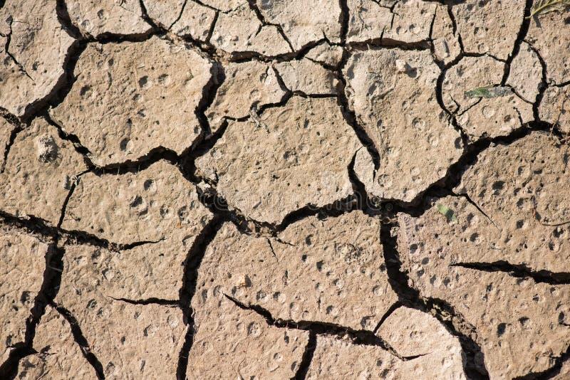 Saleté de fissure la saison sèche, effet worming global image libre de droits
