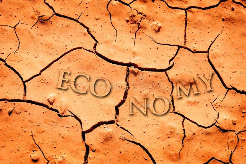 Saleté sèche par sécheresse images libres de droits