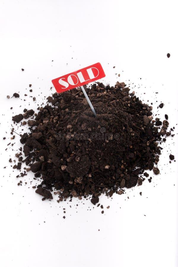Saleté vendue photo libre de droits