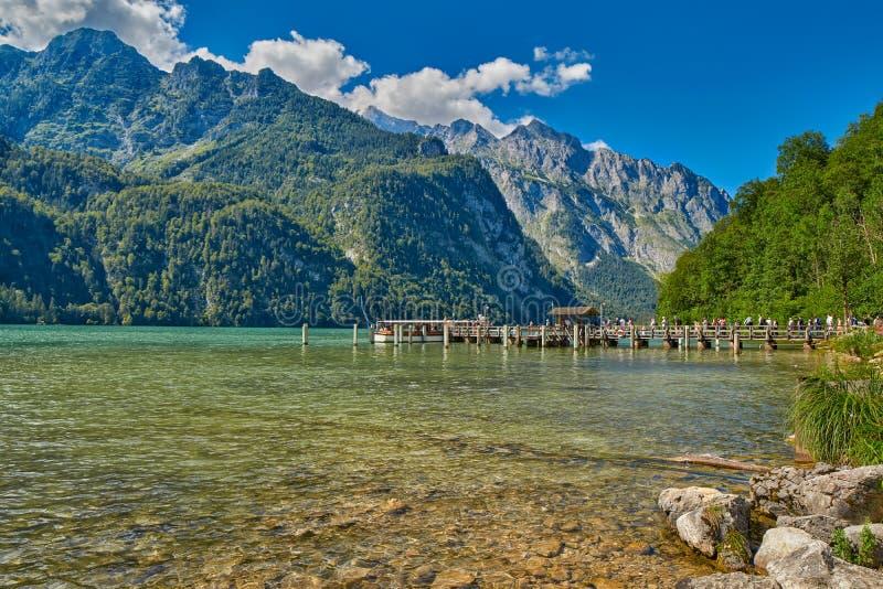 Saletalm - Final Stop of Boat Cruise on Konigsee Lake stock image