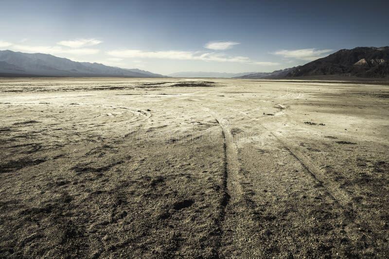 Salez le désert, bassin de Badwater, parc national de Death Valley, Califor photographie stock