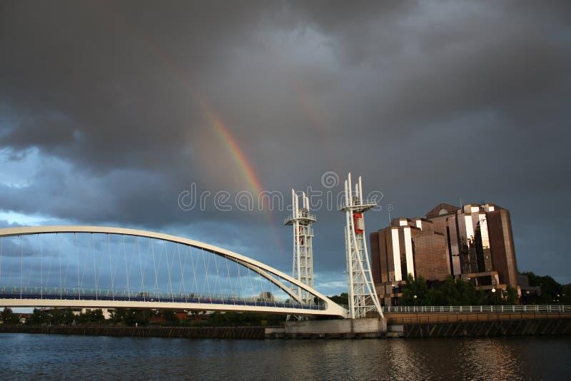 salford радуги quays стоковое изображение