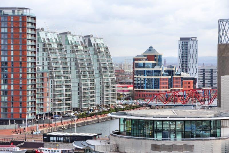 Salford Kais, Manchester lizenzfreies stockbild