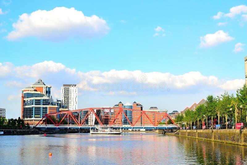 Salford kajer, Manchester, UK arkivbild